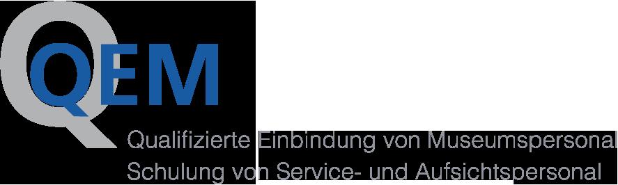 Logo QEM - Qualifizierte Einbindung von Museumspersonal